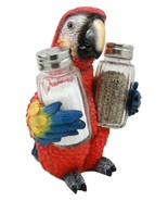 Tropical Rainforest Red Scarlet Macaw Parrot Salt Pepper Shakers #GFT02 - $54.17