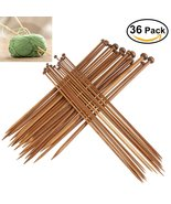 FOXNOVO 18 Pairs Professional Carbonized Bamboo Single Pointed Knitting ... - $40.69 CAD