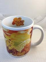 Hilo Hattie Hibiscus Flower Volcano Coffee Mug Cup Hawaiian Store Hawaii... - $10.40