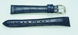 Fossil Unisex Stainless Steel Navy Blue Leather Replacement Watch Band 20mm - $6.67