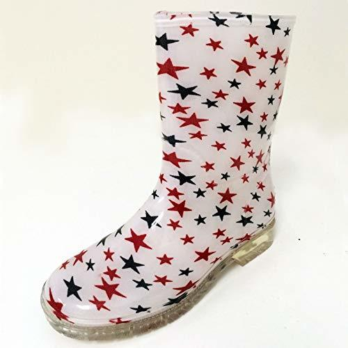 Primary image for New Children's Rain Boots Print Colors Kids Boys Girls Snow Slip On, Sizes:11-3