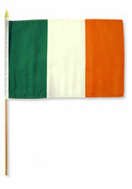"12x18 12""x18"" Ireland Irish Stick Flag wood staff St Patricks Day 24"" Stick - $12.98"