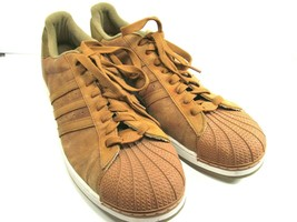 Adidas Superstar 2 Mens Brown Suede Sports Trainers Size US 20 - $48.51