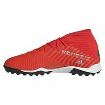 ADIDAS Men's NEMEZIZ 19.3 TF TURF Soccer Shoes Active Red/Silver F34427  - $39.97