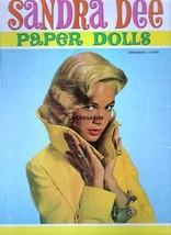 VINTAGE UNCUT 1959 SANDRA DEE PAPER DOLLS~ORIGINAL SIZE~8 PAGES CLOTHES~... - $18.99
