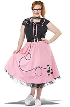California Costumes Women's 50'S Sweetheart Plus Costume, Black, 2X Large - $73.70