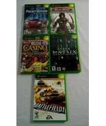 Lot of 5 Preowned XBox Games Prince of Persia Racing Casino Matrix Battl... - $16.73