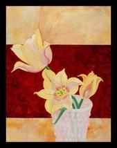 FRAMED Lillie in Vase II By Claire Pavlik Purgu... - $42.64