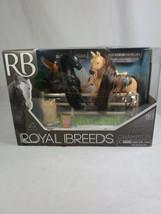 Black Friesian and Chestnut Morgan  Family Champions Lanard Royal Breeds 3+ - $14.99