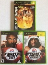 XBOX  Sports Games: Fight Night 2004, Fight Night Round 2, & Top Spin   - $5.93