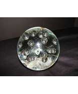 Unusual  Vintage (1980s) Clear Control Bubbles  Glass Sphere Paperweight  - $6.99