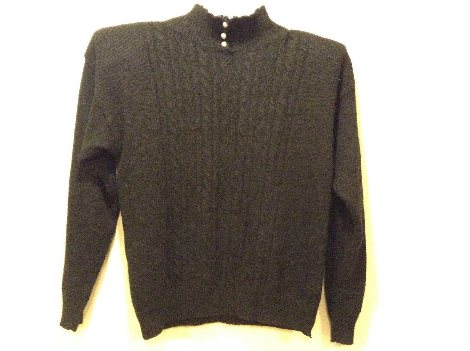 Spice of Life Black Silk-Blend Sweater Sz M