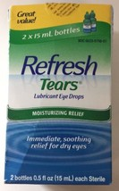 *New* Refresh Tears Lubricant Eye Drops Twin Pack - 0.5 fl oz. - $11.49