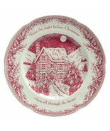 6 Johnson Brothers Twas The Night Before Christmas SALAD PLATES NEW - $89.09