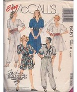 McCall's 5451 Misses' Dress and Jumpsuits Size 8-10-12 - $1.50