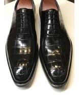 Men's Black Crocodile Texture Oxford Men Oxford Lace-up Leather Shoes H... - $149.99+