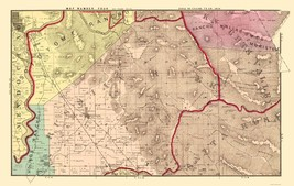 Sonoma  East Central California Landowner - Thompson 1877 - 23 x 36.30 - $36.95+