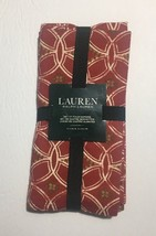 Ralph Lauren Hampstead Red Set of 4 Napkins Christmas Holiday - $21.49