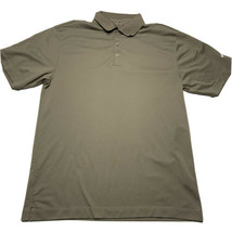 Nike Men's Size Medium Earth Brown Performance Golf Polo Swoosh Embroidered - $19.73