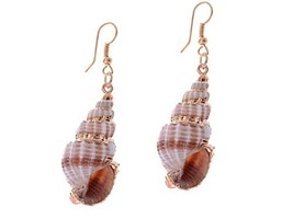 Alilang Womens Brown Golden Accent Ocean Seashell Couch Mermaid Sea Witc... - $15.66