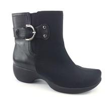 AK Anne Klein Sport Ankle Boots Booties 6 M Black Neoprene Side Zip Kadi... - $41.73