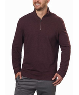 Calvin Klein Jeans Mens ¼ Zip Pullover, Spiced Currant Heather, Size L - $16.82