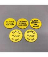 Vintage Clair's Place Ashville Inn Pennsylvania Plástico Bebida Token Lo... - $35.65