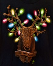Christmas Deer/Colorful Christmas lights on antlers  NWT  Mens Tee Large 42/44 T - $14.50