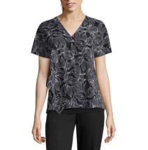 Worthington Short Sleeve V Neck Georgette Blouse Size PS, PM, PL, PXL, P... - $14.99