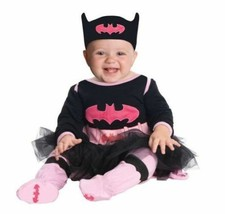 NEW Batgirl Costume Infant Size 0-6 Months Rubies Jumper Cape Pants Hall... - €15,72 EUR