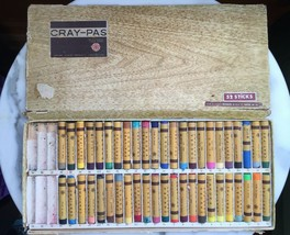 Vintage Sakura Cray-Pas Pastels 46 Sticks Made in Japan Original 52 Box  - $28.71