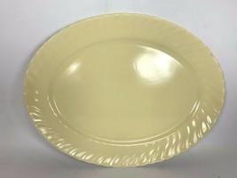 """Vintage Franciscan Coronado Swirl Yellow Matte 13"""" x 10"""" Plate Platter - $19.79"""