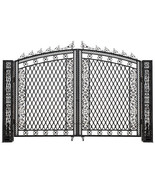 Aluminum Garden  Driveway Tall Entry Gate Wide Dual Swing 190''W X 127''H - $4,945.05