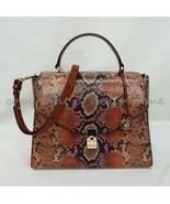 NWT Brahmin Ingrid Leather Satchel/Shoulder Bag in Marmalade Tangelo - $299.00