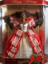 Happy Holidays 1997 Special Edition Barbie, African-american 10th Annive... - $24.75