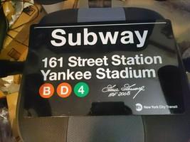 Goose Gossage Signed Subway Sign 161 Yankees stadium Autograph HOF 2008 - $280.50