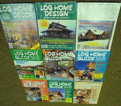 Log Home Guide Decor Design 9 issues Builders Buyers 1986-94 - $25.00