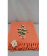 The Three Weavers Throw Orange Handwoven 100% Virgin Wool 50 x 70 - $22.76