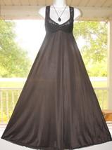 df3de9d81857 Vintage Vanity Fair Black Nightgown Gown soft Silky Antron Nylon/Spandex...  -