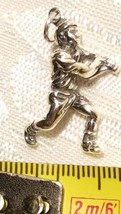 3D Male Baseball Player Batter Nicely Detailed Sterling Silver Charm image 2