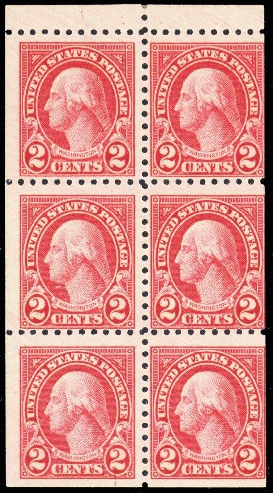 583a, Mint NH 2¢ Washington Perf 10 Booklet Pane Cat $200.00 - Stuart Katz