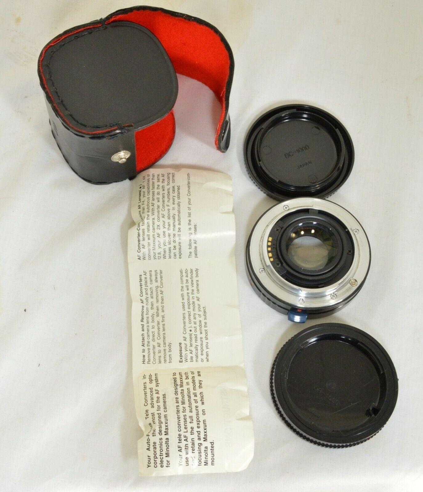 Kalimar 1.4 X M/AF Tele Converter Auto Focus camera lens w/ case & instructions image 8