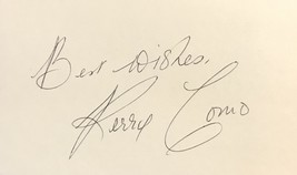 Perry Como Autographed Hand Signed 3x5 Index Card Italian American Singer w/COA - $19.99