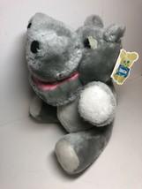 NWT Dakin 1978 Grey Gray Hillary Hippo Hippopotamus Nature Babies 31-2725 - $21.73