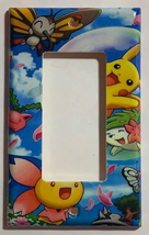 Pokemon Happy Pikachu & Friends Light Switch Outlet Wall Cover Plate Home Decor image 3