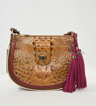 NWT Brahmin Vanessa Leather Shoulder / Crossbody Bag in Toasted Almond Hayes - $239.00