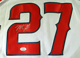 MIKE TROUT / AUTOGRAPHED LOS ANGELES ANGELS PRO STYLE BASEBALL JERSEY / COA image 3