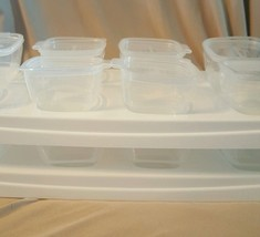 Baby Cubes Stackable Food Storage Containers large 70ml set of 16 & 2 trays - $20.91
