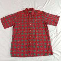 REYN SPOONER MENS HAWAIIAN CAMP SHIRT RED GREEN SPORT FISHING MARLIN SIZ... - $19.80
