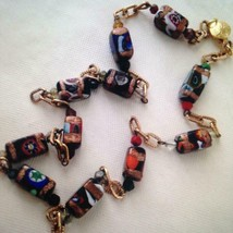 Vintage Multi Color Murano Glass Beads, 20in Beaded Necklace - $75.95